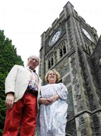 TOWERS OF STRENGTH:  Peter and Desna Pemberton have worked tirelessly to ensure the refurbishment of Ammanford's All Saints' Church.