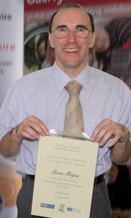 THIS IS I.T.: Steve Morgan has been named Carmarthenshire's Information Technology Tutor of the Year 2014.
