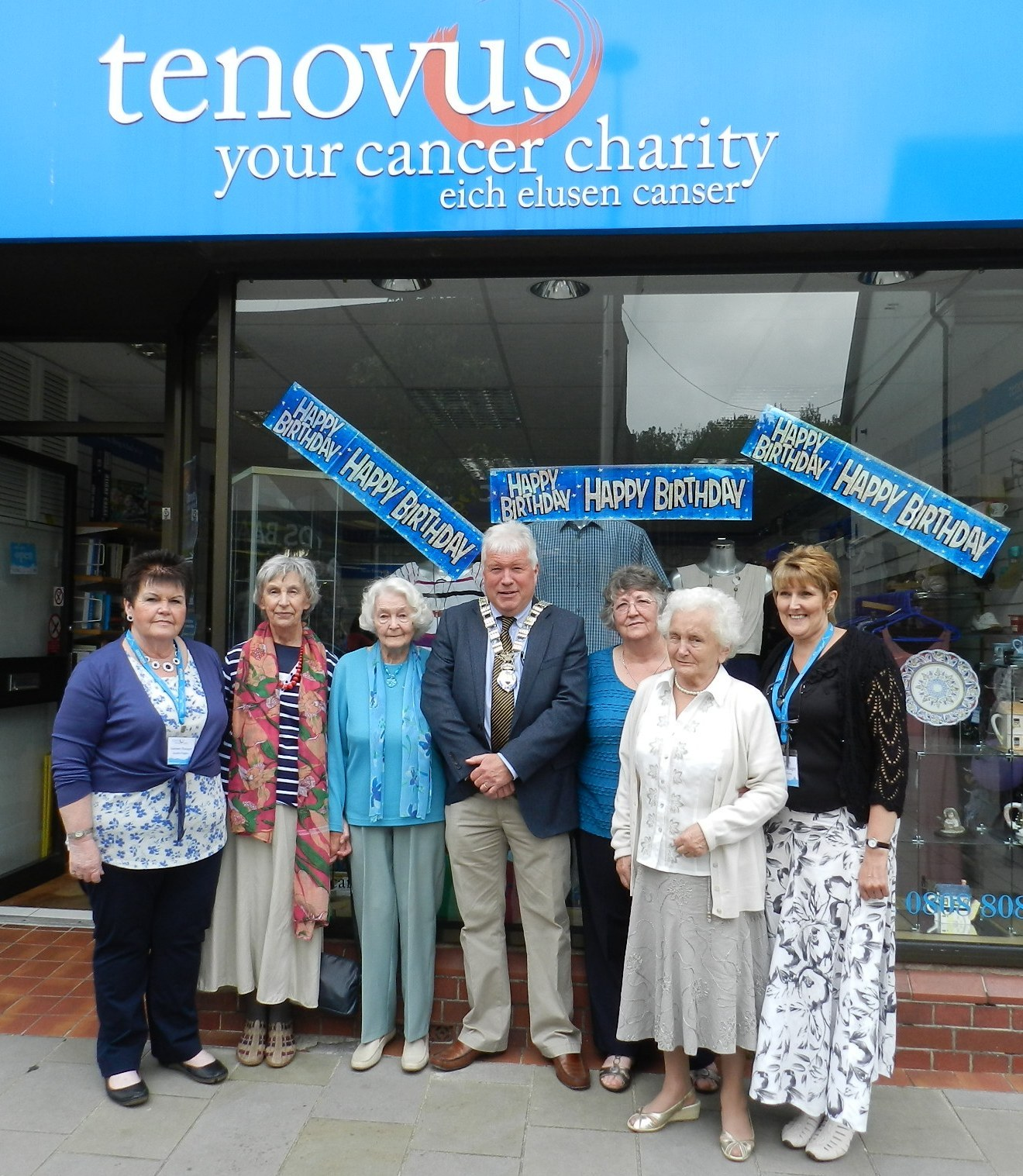 Ammanford Tenovus store celebrates its 25th birthday