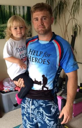 DADDY'S GIRL: Luke Toms, pictured with his daughter Willow, will be trekking through the Pyrenees mountains for forces charity Help For Heroes.
