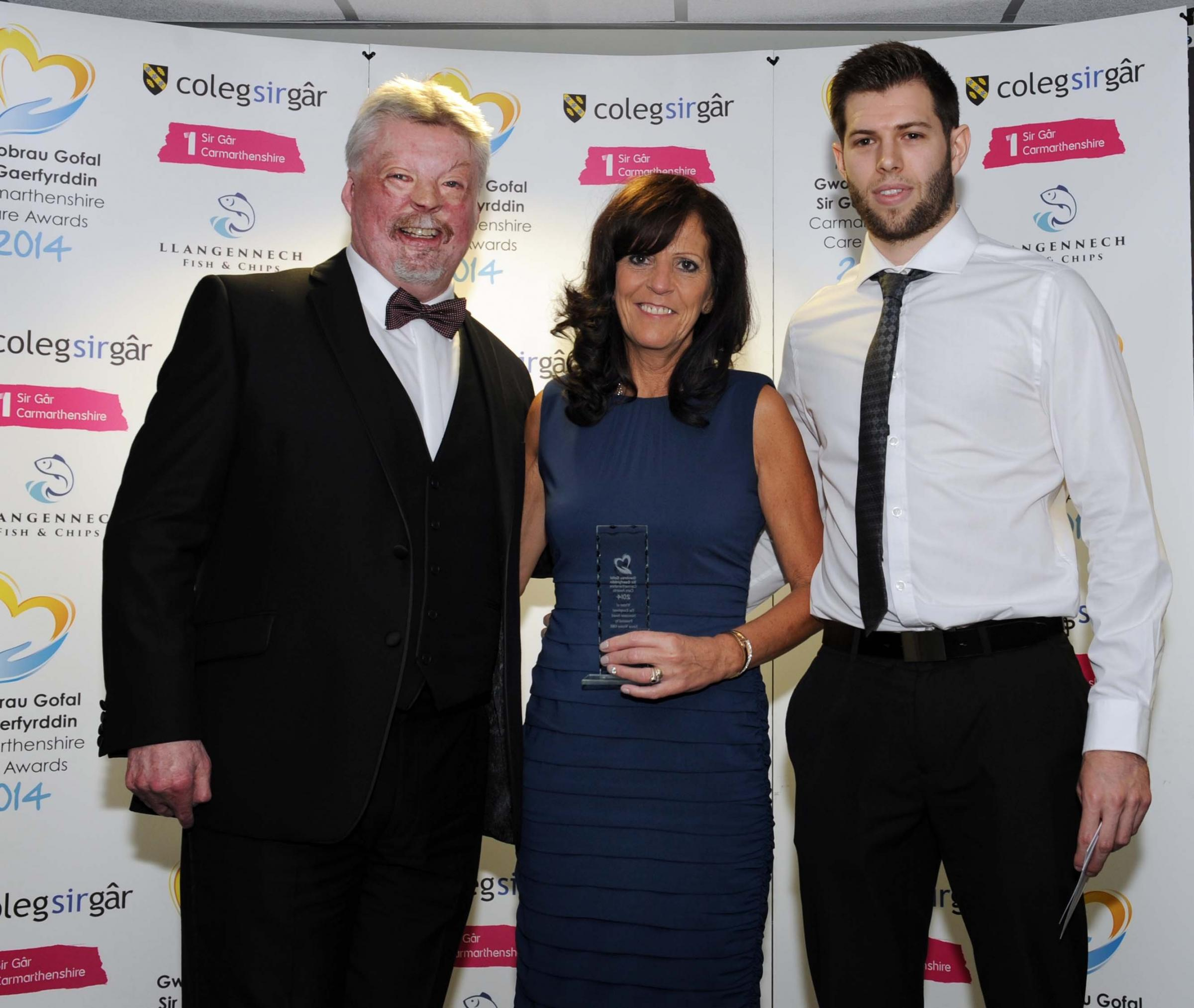 Angel Gail honoured at care worker awards