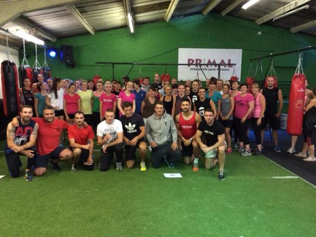 THE TEAM: Members of Funky Pump fitness and Primal Gym celebrate the merge.