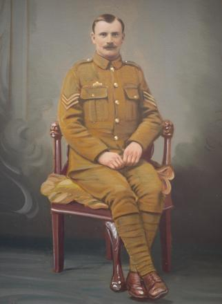 FAMILY SACRIFICE: Sergeant John Scott of Gorsddu, Penygroes. Sgt Scott was killed in action on August 11, 1915. His father and his brother were both also killed in the War.