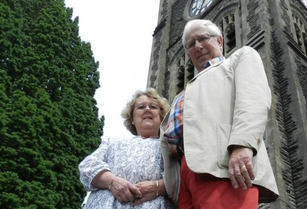DRIVING FORCE: Desna and Peter Pemberton have battled to raise £500,000 for the restoration of All Saints Church.