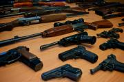 HANDOVER: More than 100 different guns and other weapons were surrendered during a joint amnesty involving the three south Wales police forces.