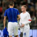South Wales Guardian: Wayne Rooney, right, was pleased by England's response to their upsetting first-half display