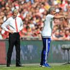 South Wales Guardian: Arsene Wenger, left, suggested a lack of respect was behind his decision to snub Jose Mourinho