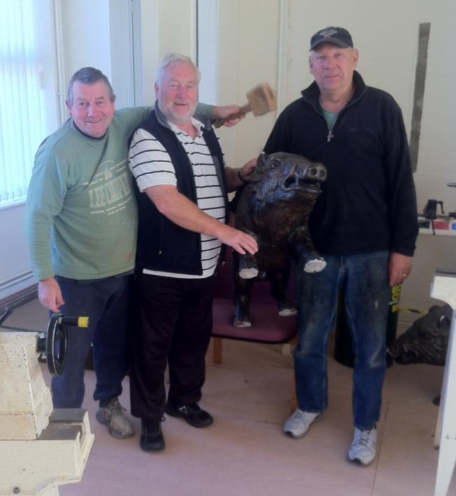 Members of Amman Valley Men's Shed