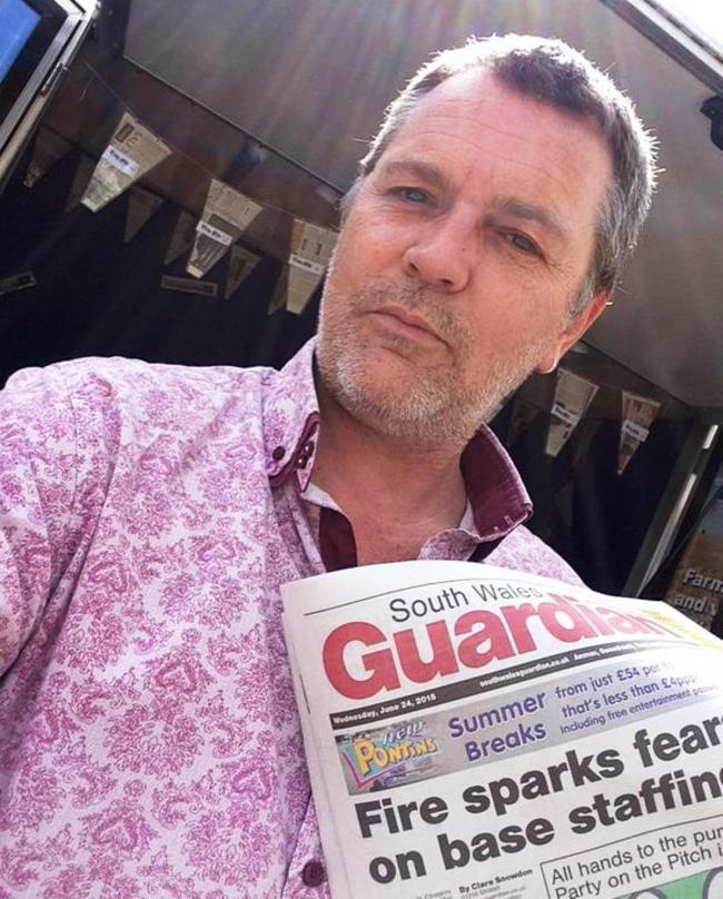 Steve Adams is the 13th editor of the South Wales Guardian