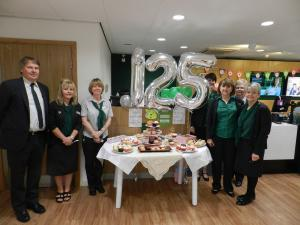 South Wales Guardian: LLOYDS Bank in Ammanford is celebrating its 125 year anniversary. To celebrate the occasion members of staff at the Quay Street branch organised a cake sale to raise money for Children In Need.