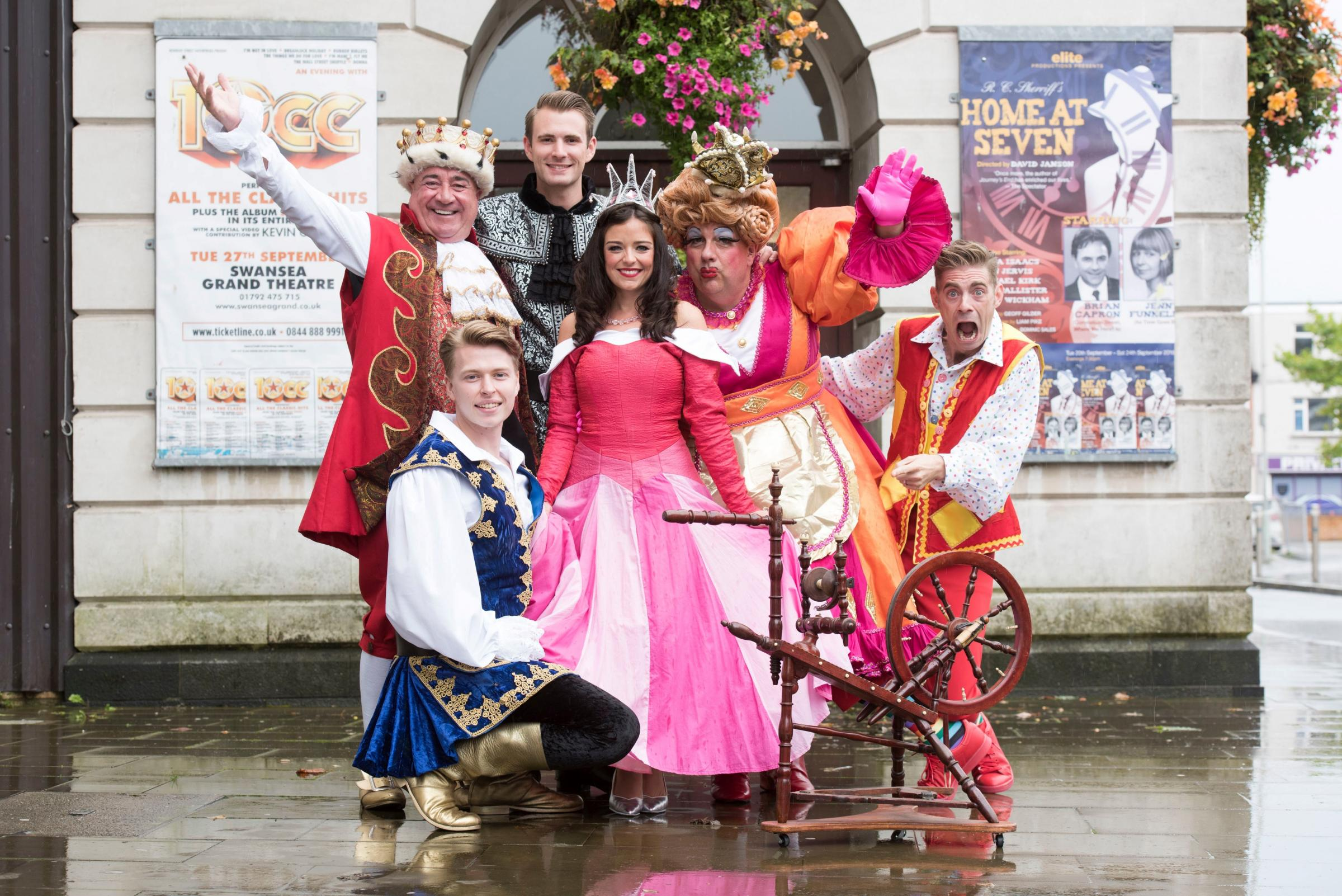 The cast of this year's Swansea Grand Theatre pantomime Sleeping Beauty
