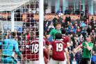 Sean Raggett heads Lincoln's winner at Burnley