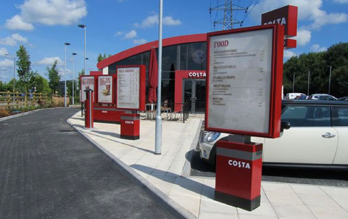 What the Costa Coffee drive-thru could look like at Pont Abraham services when built.