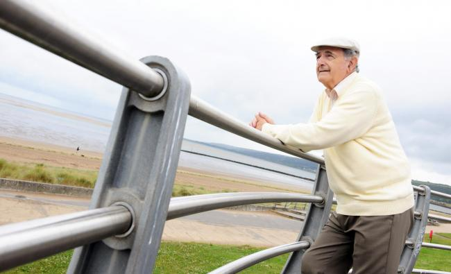 Cllr Peter Hughes Griffiths, Executive Board Member for Sport, Culture and Tourism, at Llanelli's Millennium Coastal Park