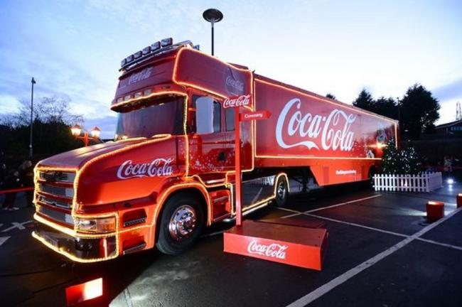 the festive truck is coming to swansea on november 16 - Coca Cola Christmas Commercial