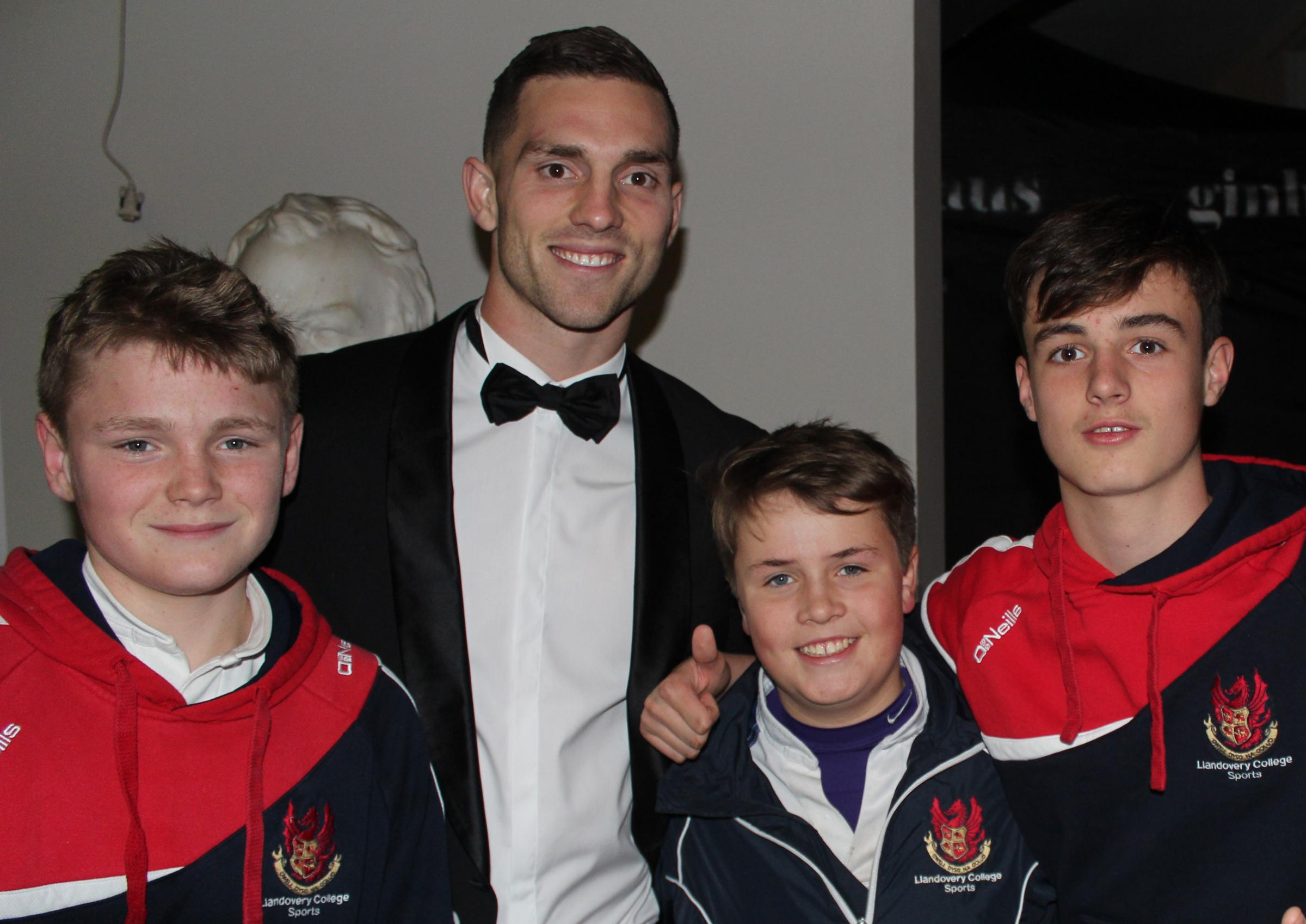 George North joins current pupils in celebrating the 170th anniversary of his old school Llandovery College last weekend