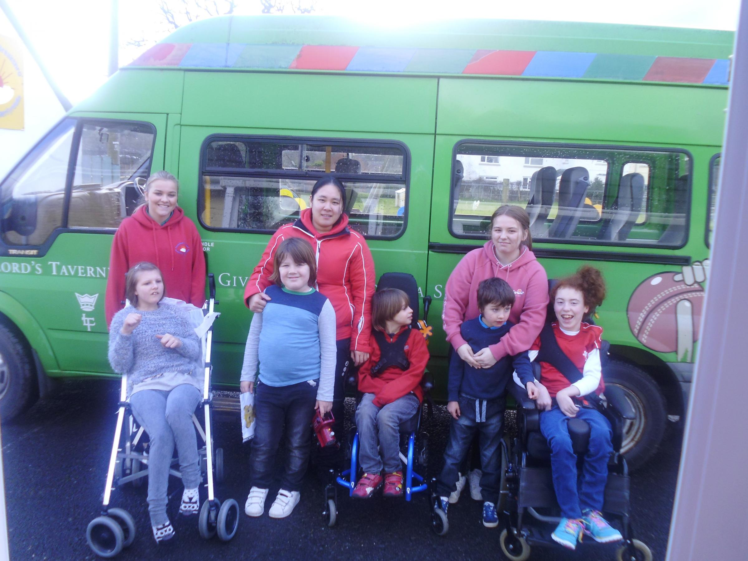 Carmarthen Breakthro are currently fundraising for a new minibus.