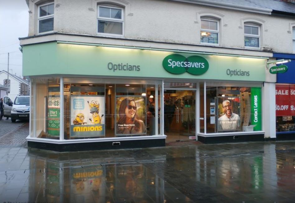 Specsavers in Quay Street, Ammanford