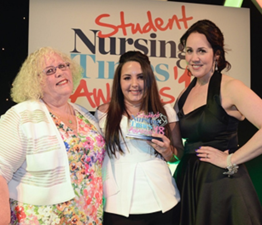 Charlene Bailey won the Most Inspirational Student of the Year Award at this year's Student Nursing Times Awards.