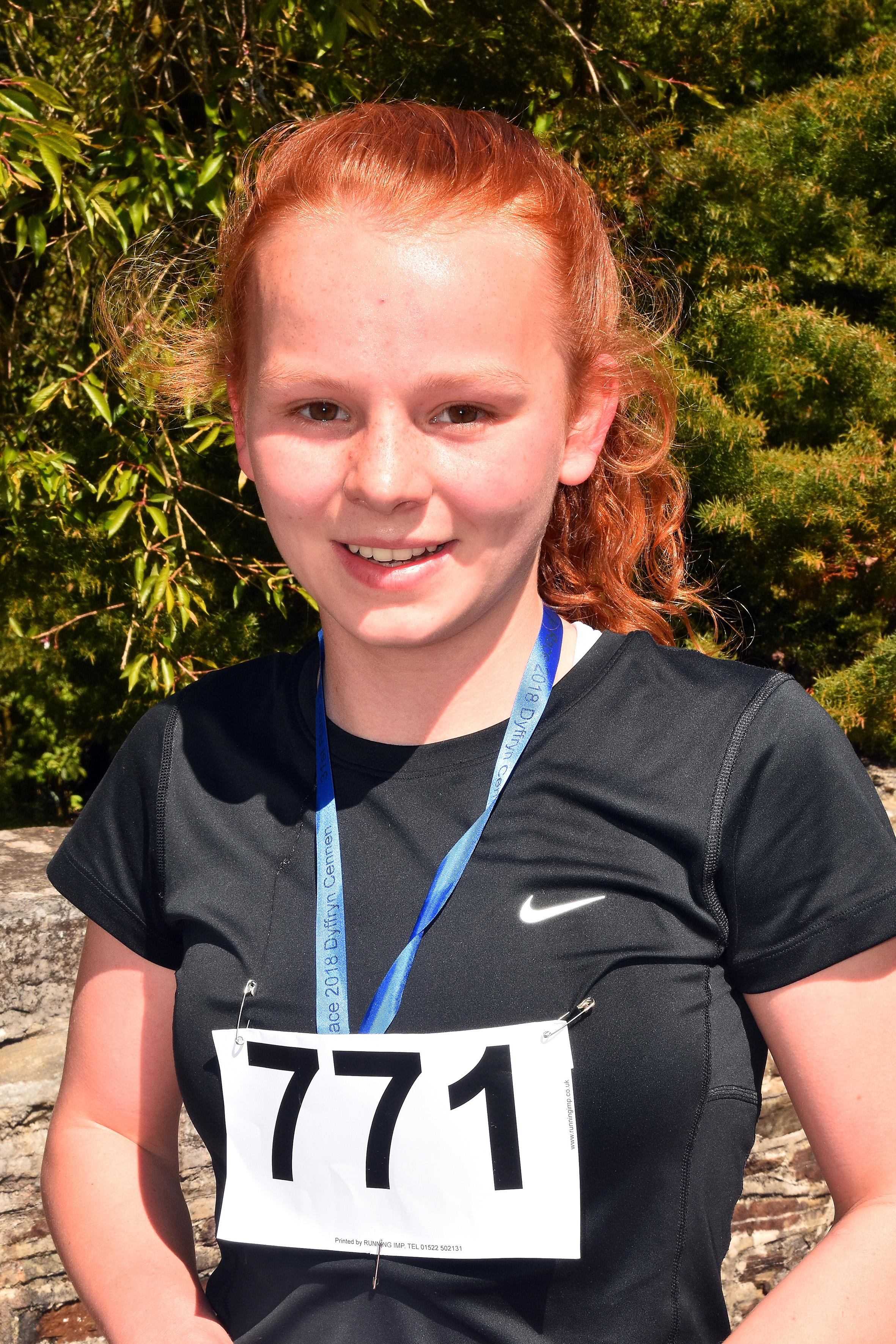 Fourteen year old Clara James from Ysgol Maes y Gwendraeth was the first girl back in the Junior race.