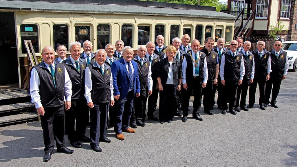 Carmarthen Male Voice Choir celebrate their 60th Anniversary at the Gwili Railway. Photography by Scott Artus