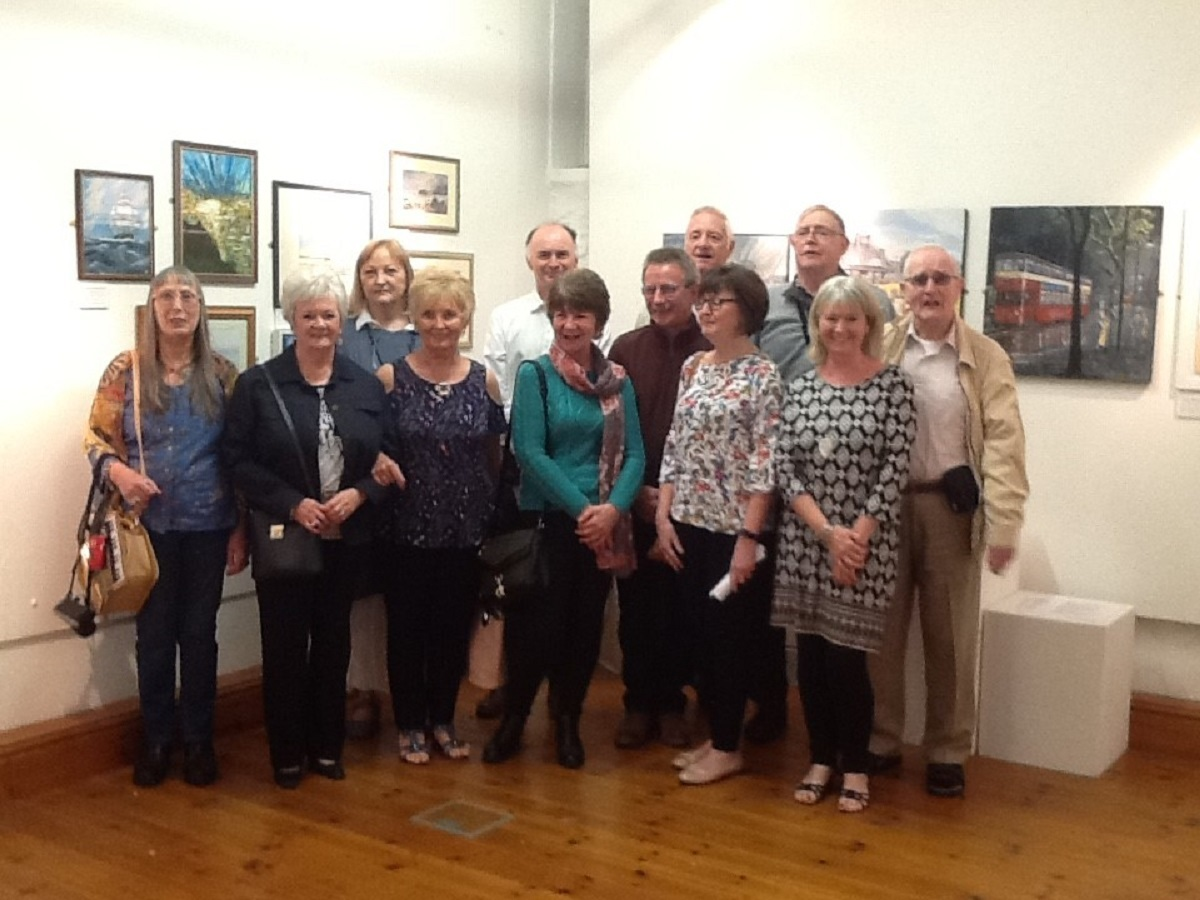 Members of Amman Valley Art Group