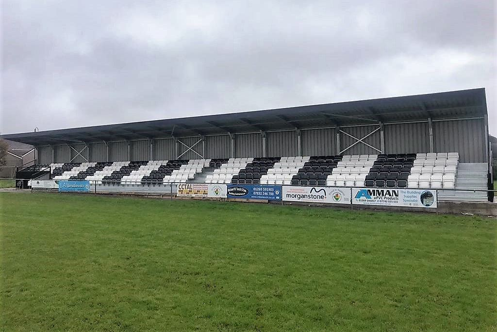 Ammanford AFC's new stand