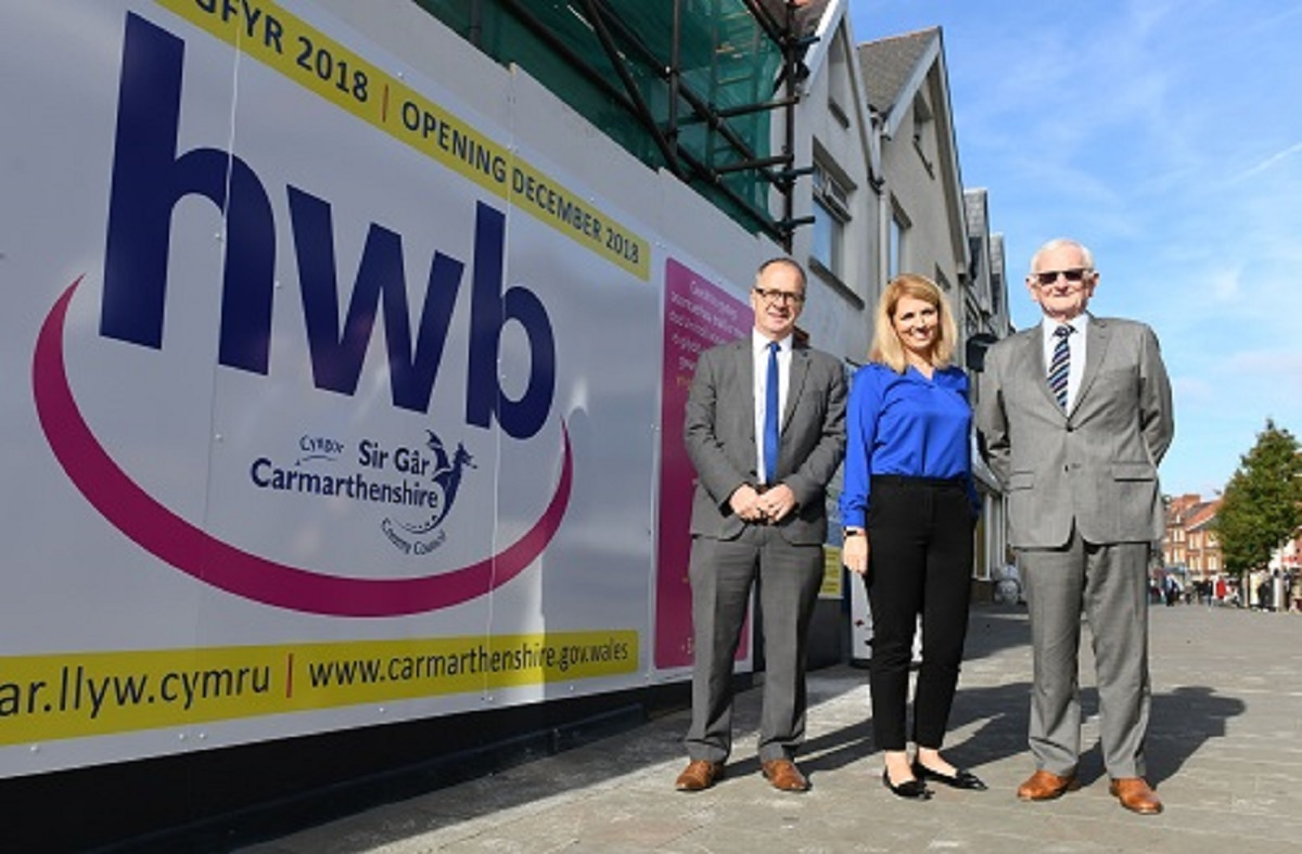 Ammanford Hwb will be located on Quay Street.The Hwb will bring additional new services to the town centre.