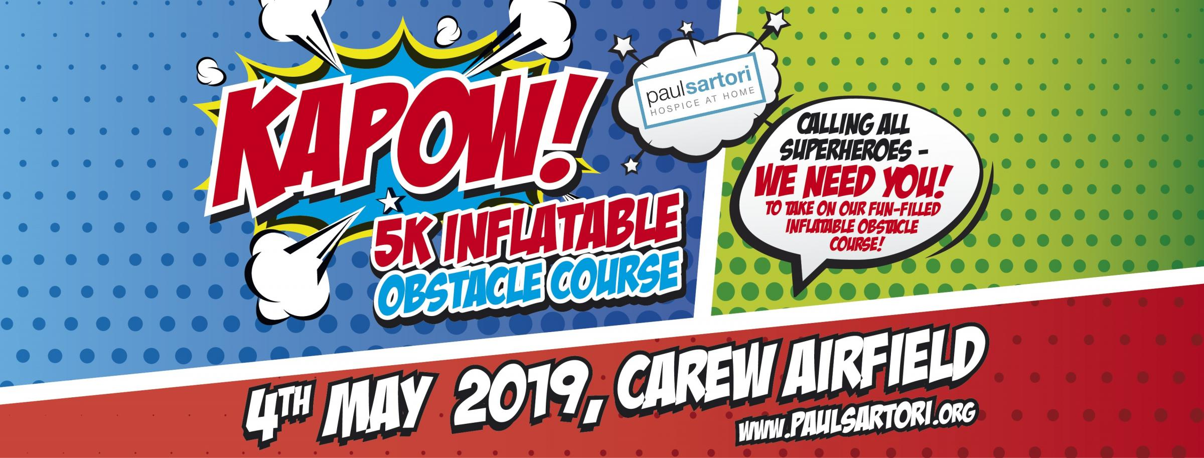 KAPOW! 5k inflatable obstacle course