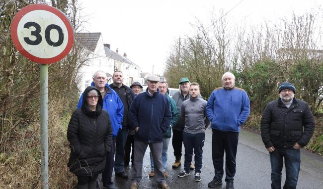 Residents of Caerbryn Terrace have shared their concerns with local councillor Dai Thomas and Dyfed-Powys Police