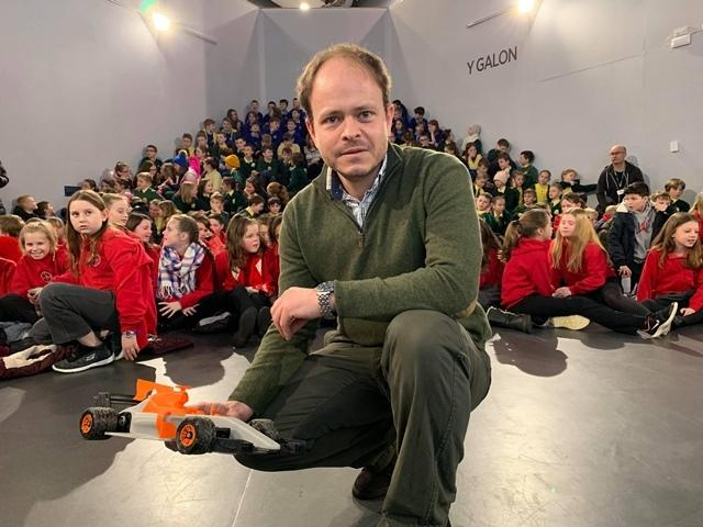 Teams of children from eight county primary schools will take part in the 3D printed remote control car race, which is earmarked for Carmarthen Park's velodrome in July.