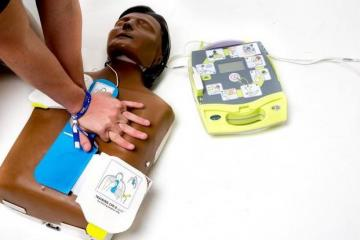 Defibrillator training session cancelled