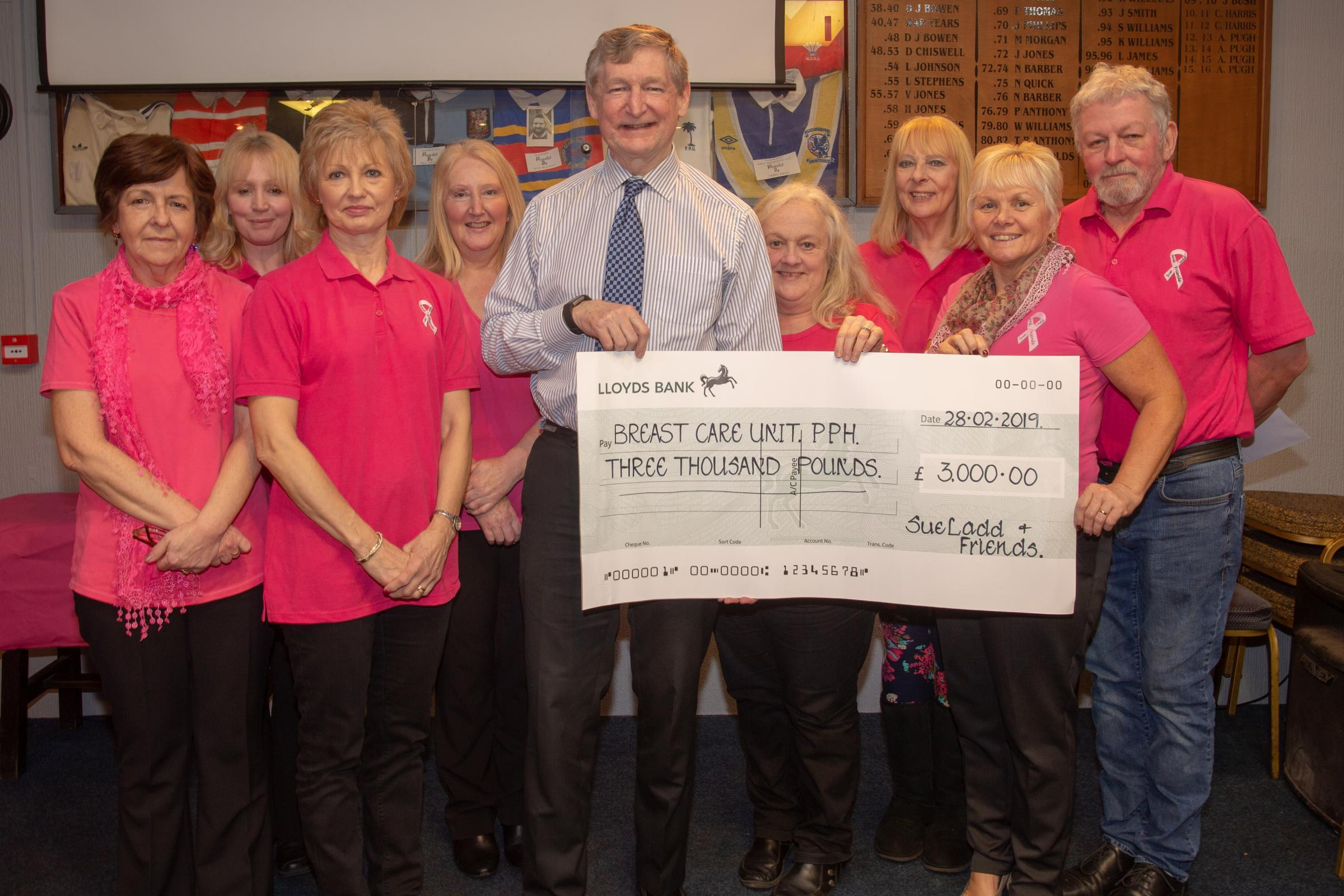 Charity's fundraising pays off
