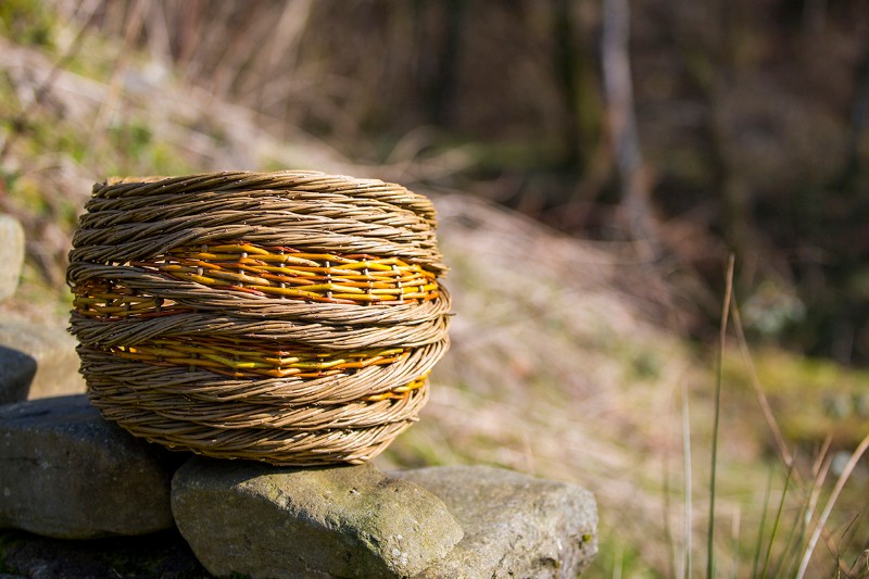 Rope Coil Effect Willow Basket Course