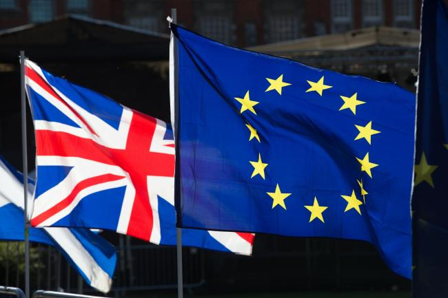 The Union and EU flags