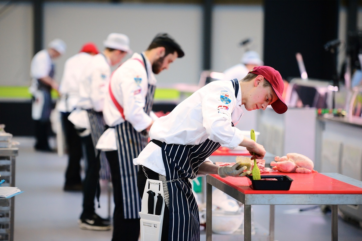 Butchers competing in last year's WorldSkills UK competition