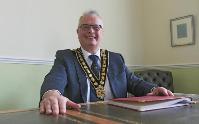 Councillor Kevin Madge will take on the Boxing Day dip at Pembrey raising money for Foodbanks.