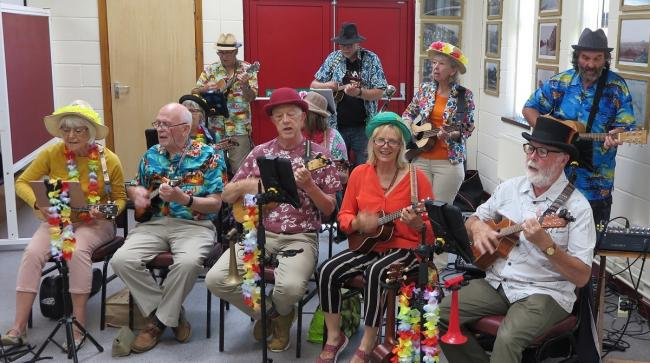 Carmarthen Ukelele performed for Penygroes Old Age group recently